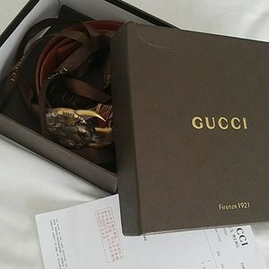 NEW AND AUTHENTIC gucci belt.with tags and box